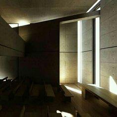 Igreja da Luz, em Osaka, Japão. Projeto do arquiteto Tadao Ando. #architecture #arts #arquitetura #arquitetura #decor #design #decoração #luzetrancendencia #lighting #projetocompartilhar #shareproject