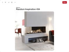 Fireplace open room separation