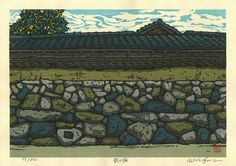 A Wall of Hagi by Katsuyuki Nishijima Japanese Art Styles, Japanese Artists, Art Occidental, Japanese Things, Japanese Painting, Block Design, Prehistory, Nihon, Gravure