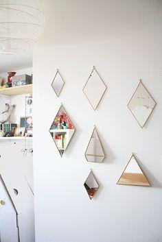Miroir Losange en cuivre (3 tailles) — LES PETITS BOHEMES