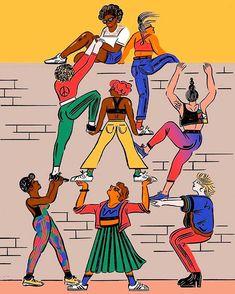 Happy Womans day!! Recordemos apoyarnos unas a otras a mejorar como mujeres y en nuestras metas! Gracias a todas nuestras hermosas clienta y amigas Ilustración: @cynthiakittler