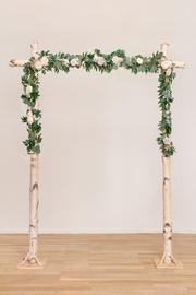 Greenery Garland, Floral Garland, Flower Garlands, Wedding Ceremony Backdrop, Foam Roses, Wedding Decorations, Wedding Ideas, Diy Wedding Arbor, Simple Wedding Arch