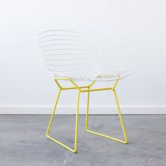 Cast & Crew Vintage - Bertoia Side White Yellow, $595, now featured on Fab.