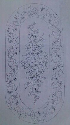 çiçek Floral Embroidery Patterns, Embroidery Fashion, Hand Embroidery Patterns, Vintage Embroidery, Ribbon Embroidery, Embroidery Art, Embroidery Stitches, Machine Embroidery, Wreath Drawing