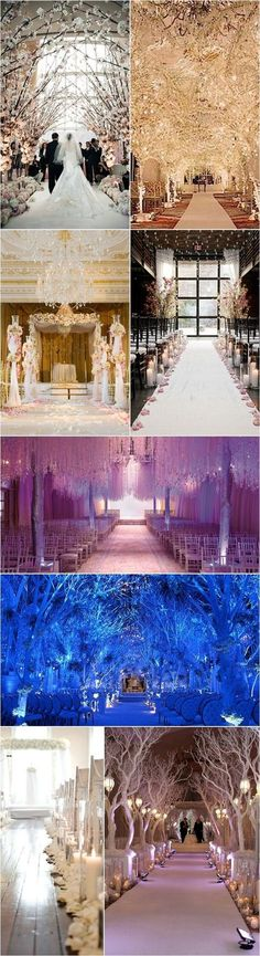 25 Romantic Winter Wedding Aisle Décor Ideas | http://www.deerpearlflowers.com/25-romantic-winter-wedding-aisle-decor-ideas/