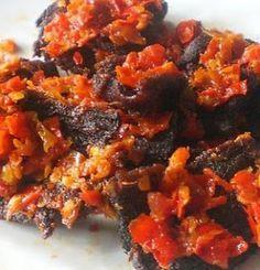 Fried Beef With Chili (Dendeng Balado)