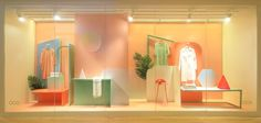 Op Art Window Displays : Hermes Boutique