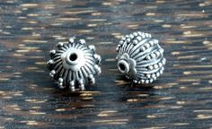 Balinese Sterling Silver Beads 2 by SmallWorldofTreasure on Etsy,