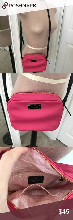 New kate spade cross body purse New without tags. Bright pink kate spade Bags Crossbody Bags