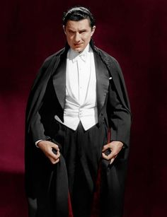 A colorized Dracula, with Bela Lugosi.
