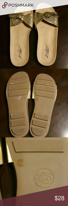 Gold Lucky brand sandals Gold Lucky sandals. Worn once. Excellent condition! Lucky Brand Shoes Sandals