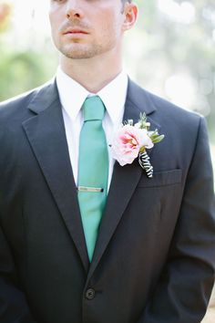 pink bout with striped ribbon  // photo by Devon Donnahoo Photography