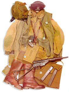 WWII Military Uniform - Lieutenant, Polish Airborne Brigade, Battle of Arnhem British Army Uniform, British Uniforms, Ww2 Uniforms, Military Uniforms, German Uniforms, Military Gear, Military Equipment, Military History, Military Clothing
