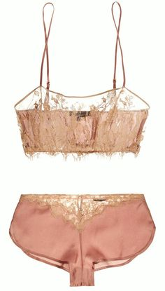 "martysimone:Kiki de Montparnasse | ""Le Reve"" silk satin & lace bandeau soft-cup bra & French knickers<3 - womens lingerie shops, black ladies in lingerie, lingerie and intimates *ad"