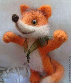 Лучик - оранжевый,лисенок,лисичка,валяная игрушка,игрушка в подарок,подарок ручной работы