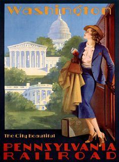 Vintage Travel USA ad Poster Washington DC Grif by Vintagemasters, $14.95