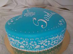 torta cuore azurro