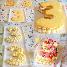 Le Number cake, gâteau d'anniversaire ultra tendance The Number cake, ultra trendy birthday cake Number Birthday Cakes, Number Cakes, Cake Birthday, Cake & Co, Eat Cake, Alphabet Cake, Cake Lettering, Biscuit Cake, Creative Cakes