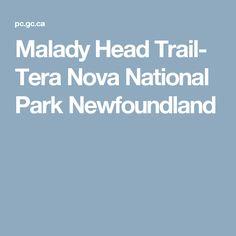 Malady Head Trail- Tera Nova National Park Newfoundland Newfoundland, Trail, Nova, National Parks, State Parks