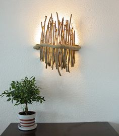 It's incredible how many wonderful things that you can do with driftwood. Some more elaborate items may also be made using driftwood. Driftwood may be used for a selection of things. Driftwood Furniture, Driftwood Lamp, Driftwood Crafts, Diy Furniture, Furniture Design, Wood Lamps, Furniture Stores, Driftwood Ideas, Furniture Dolly