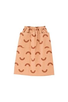 Montreal Canada Tiny Cottons The D.Y Market ''market'' woven mid-lenght skirt dark nude/brick jupe mi-longue Mid Length, Baby Shop, Midi Skirt, Kids Fashion, Nude, Marketing, Skirts, Cotton, Clothes