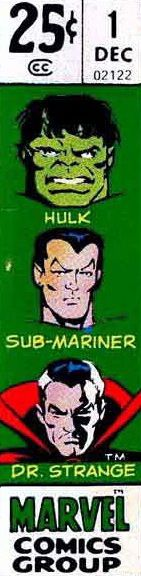 Marvel corner box art - Defenders #1 (Dr. Strange, the Sub-Mariner and the Hulk)