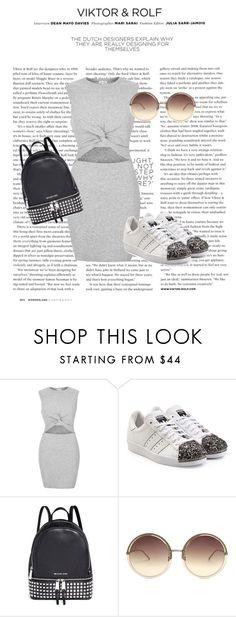 """Grey"" by amra-mujcic on Polyvore featuring moda, Viktor & Rolf, River Island, adidas Originals, Michael Kors i Linda Farrow"