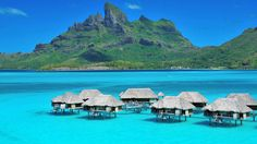 Four Seasons Bora Bora - Over-the-water bungalows...romantic!