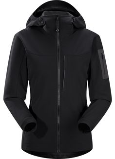 Gamma MX Hoody Women's Breathable, wind-resistant, lightly insulated hooded jacket constructed with Fortius 2.0 textile for increased comfort and mobility. Gamma Series: Softshell outerwear with stretch | MX: Mixed Weather.