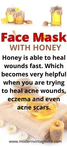 Honey will cleanse your pores making them less visible and deep.  Honey has a full range of vitamins in it which will nourish and rejuvenate your skin.  It also has anti-inflammatory effects meaning that honey will help to reduce redness, irritation an inflammation of your skin. Toner For Face, Skin Toner, Homemade Skin Care, Diy Skin Care, Heal Wounds Faster, Honey Face, Love Your Skin, Clean Face, Acne Scars