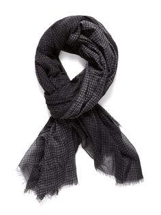John Varvatos Collection - Crinkle Gauze Plaid Scarf. Dudes on the West side wear these all the time...even during the summer...