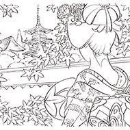 時代物 日本画風 大人の 塗り絵 教室 高齢者の方向け My介護の広場 塗り絵 秋 塗り絵 塗り絵 無料 花