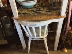Has wood top and French trendy white legs, see it @ 1 Fraser Road .Assagay Hillcrst and get chairs too! HEY JUDES OPEN - both our shops same hours for  best deals, antiques/collectibles and revamps, painted vintage and everything in a ONE STOP SHOP. DEBIT and delivery options 9 - 4 @ HEY JUDES has lots of everything,  HEY JUDES HILLCREST opposite Hillcrest hospital