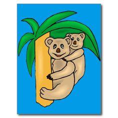Koala bear 14a postcard