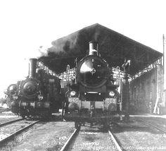 Locomotiva a vapore FS-640.009 - Deposito lok. di Alessandria (I) - 08 giu 1960 - © Umberto Garbagnati - Steam Locomotive, Trains, Nostalgia, Italia, Train