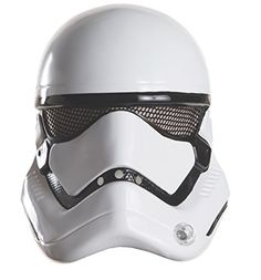 Star Wars: The Force Awakens Child's Stormtrooper Half Helmet Includes one Stormtrooper mask for kids. This kids Stormtrooper mask is an officially licensed Star Wars costume accessory.