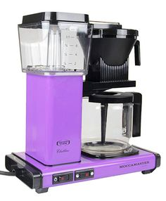 Grape Moccamaster Coffee Maker from The Purple Store! Lilac Color, Shades Of Purple, Purple Kitchen, All Things Purple, Decoration, Dinnerware, Diana, Coffee Maker, Lavender