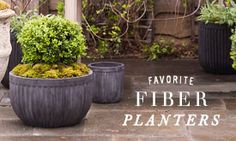 Our Favorite Fiber Planters