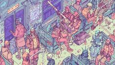 Comic artist Josan Gonzalez, whose The Future is Now we featured last year, has a new entry in the series up on Kickstarter. He's also done some work recently for CD Projekt Red, illustrating the steelbook cover art for Cyberpunk collector's editions. Cyberpunk 2077, Arte Cyberpunk, Video Game Artist, The Future Is Now, Sci Fi Characters, Tumblr, Art Studies, Comic Artist, Cover Art