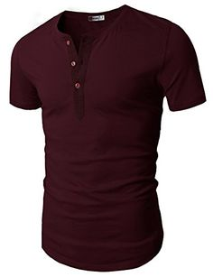 59ae4e739d6 Mens Casual Slim Fit Short Sleeve Henley T-shirts