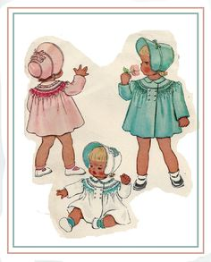 McCalls 1311 Vintage 40s Adorable Toddler Girls by PatternPlaying