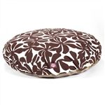 Large Round Pet Bed Chocolate Plantation