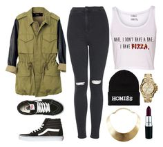 """""""Untitled #35"""" by azra01 ❤ liked on Polyvore featuring Veda, Topshop, Vans, Brian Lichtenberg, MAC Cosmetics, GUESS and MICHAEL Michael Kors"""