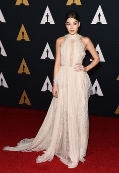 """Hailee Stenfeld from Governors Awards 2016 Red Carpet Arrivals Just one night after attending the Nickelodeon Halo Awards, the """"Starving"""" singer wows with her red carpet look."""