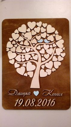 "Купить Дерево пожеланий объемное ""в сердечках"" - Дерево пожеланий, свадебное дерево, книга пожеланий Wood Projects, Craft Projects, Projects To Try, Brag Tags, Leather Art, 50th Wedding Anniversary, Creative Thinking, Paper Quilling, Wood Carving"