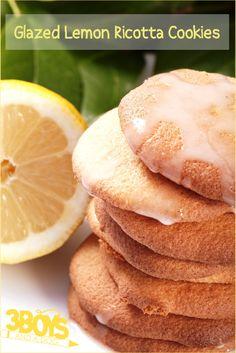 Glazed Lemon Ricotta Cookies