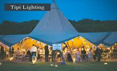 Holmsted events tipi lighting for a Kent wedding