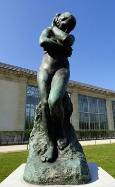Eve, bronze by Auguste Rodin, Jardin des Tuilleries, Paris Auguste Rodin, Modern Sculpture, Bronze Sculpture, Garden Sculpture, Psychology Today Magazine, Gates Of Hell, French Sculptor, Figure Painting, Art And Architecture