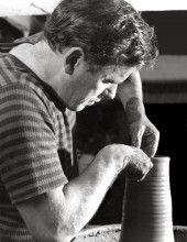 Rhys (Taffy) Powell. After serving in the Merchant Navy during the second world war, Rhys studied and taught ceramics. He and Jean were later married and soon started the business together.