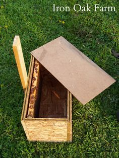 Step by step instructions for building a swarm box used to catch wild swarms.